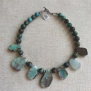 Chrysocolla Stone Beaded NECKLACE